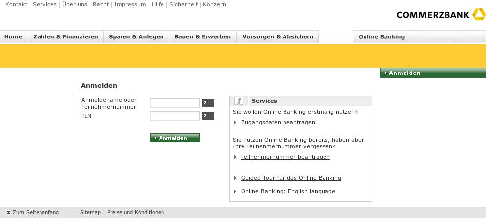commerzbank online bewerbung commerzbanking online login gr 252 ne aktien. Black Bedroom Furniture Sets. Home Design Ideas