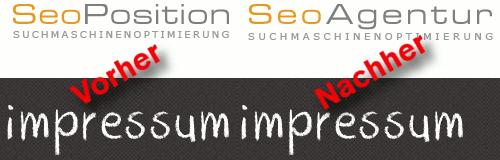Gegenüberstellung der Logos von SeoPosition und SeoAgentur