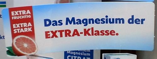 Extra fruchtig. Extra stark. Das Magnesium der Extra-Klasse.