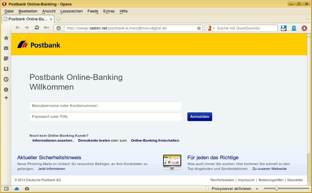öffne postbank online banking