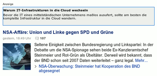 Kontextsensitive Werbung für Cloud-Computing