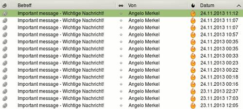 Important message - Wichtige Nachricht von Angelo Merkel