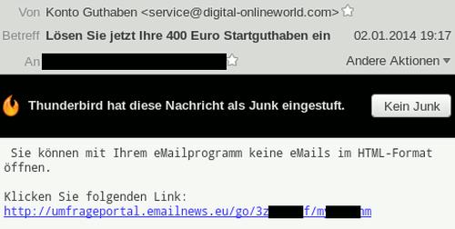 Sie können mit Ihrem eMailprogramm keine eMails im HTML-Format öffnen. Klicken Sie folgenden Link