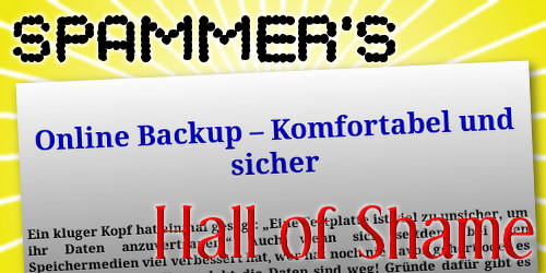 Spammer's Hall of Shame: digitalbackup.info