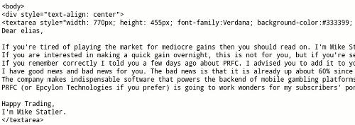 Screenshot der Quelltextansicht der E-Mail mit dem eben beschriebenen Trick