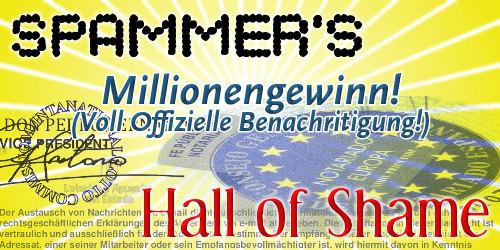 Spammer's Hall of Shame: Millionengewinn! (Voll Offizielle Gewinnbenachritigung!)