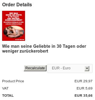 Bestellmöglichkeit für das Buch des immer noch völlig namenlosen 'Bestseller-Autors' -- das 'nur' 35,66 Euro kostet und bei dem nicht einmal klar ist, ob es sich um ein gedrucktes Buch oder ein E-Book oder sonstwas handelt.