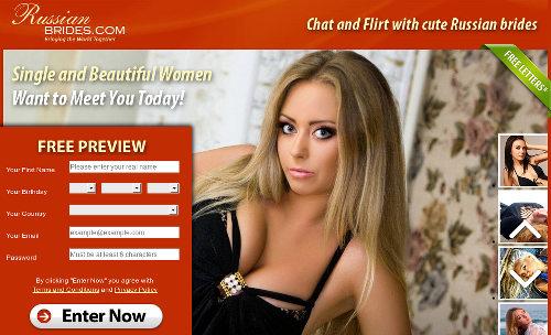 Screenshot der betrügerischen Dating-Seite