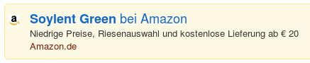 Soylent Green bei Amazon -- Niedrige Preise, Riesenauswahl und kostenlose Lieferung ab €20.