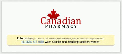 Canadian Pharmacy -- Entschuldigen, wir können ihre Anfrage nicht bearbeiten, weil Ihr JavaScript abgeschaltet ist! KLICKEN SIE HIER wenn Cookies und JavaScript aktiviert werden!
