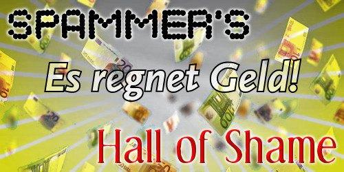 Spammer's Hall of Shame: Es regnet Geld!