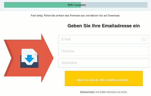 Screenshot der angeblichen Download-Seite