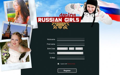 Screenshot der betrügerischen und möglicherweise gefährlichen Dating-Site