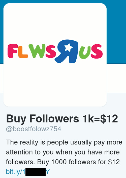 Buy Followers 1k=$12 -- The reality is people usually pay more attention to you when you have more followers. Buy 1000 followers for $12. Über bitly maskierte Angabe einer Website.