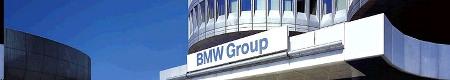 In der Spam eingebettete Grafik von einem Eingang mit der Beschriftung 'BMW Group'