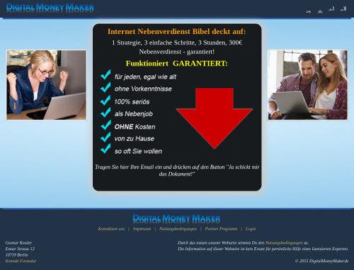 Screenshot der betrügerischen Website, die vorgibt, von einem gewissen G. K. zu stammen