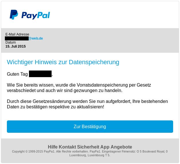 paypal konto mit 16