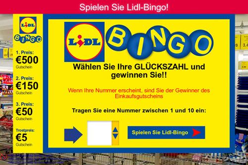 Screenshot der betrügerischen, mit E-Mail-Spam beworbenen Seite im Web