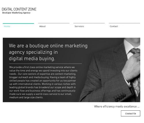 Screenshot der Website dieser Werbeagentur, die halbseidene und leserverachtende Schleichwerbeplätze über illegale und asoziale Spam akquriert.