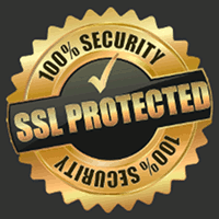 Detail aus der betrügerischen, mit Spam beworbenen Website: 100% Security, SSL protected