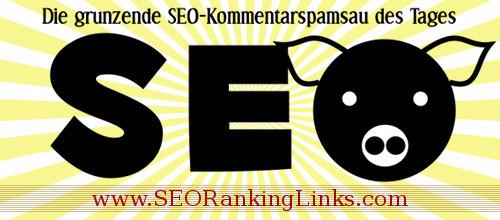 Die grunzende SEO-Kommentarspamsau des Tages: www.SEORankingLinks.com