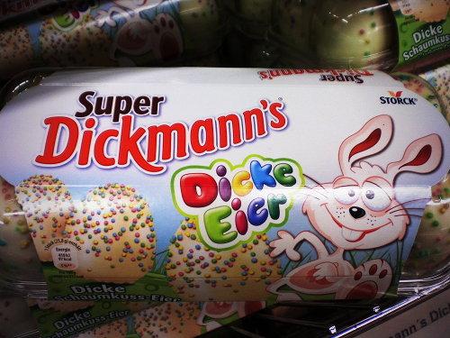 Produktverpackung für Schaumzuckerware zu Ostern: Super Dickmanns Dicke Eier