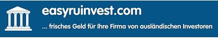 In die Spam eingebettetes Banner: easyruinvest.com ...frisches Geld für Ihre Firma von ausländischen Investoren