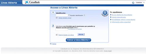 Screenshot der Phishing-Seite, die allerdings Phishing in spanischer Sprache für die Calxa Bank betreibt