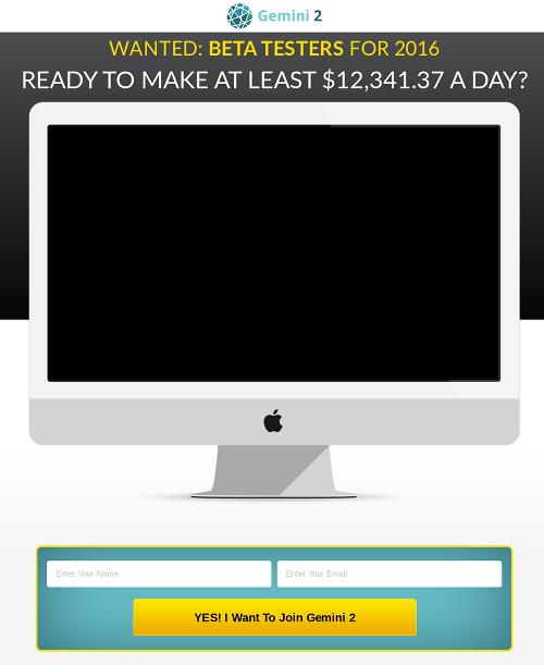 Screenshot der betrügerischen Webseite
