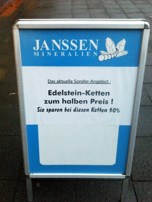 Das aktuelle Sonder-Angebot: Edelstein-Ketten zum halben Preis! Sie sparen bei diesen Ketten 50%