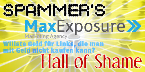 Spammer's Hall of Shame: Max Exposure