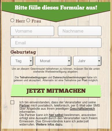 Datenstriptease: Name, Geburtsdatum, Geschlecht, Mailadresse