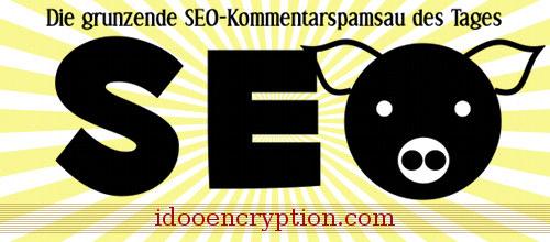Die grunzende SEO-Kommentarspamsau des Tages: idooencryption.com