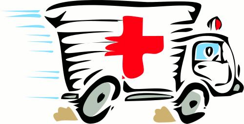 Clipart eines rasenden Krankenwagens