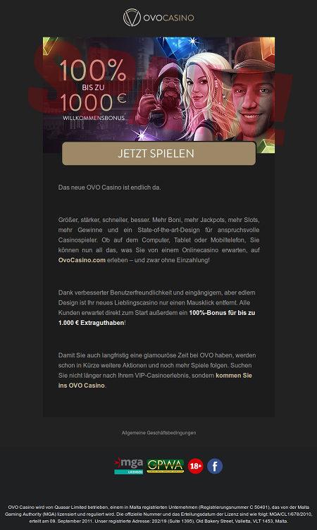 Screenshot der sehr ansprechend HTML-formatierten Spam