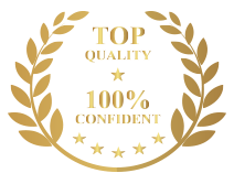 TOP QUALITY - 100% CONFIDENT