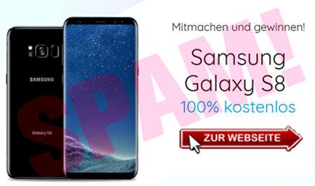 Mitmachen und gewinnen! Samsung Galaxy S8 -- 100% kostenlos -- Zur Website