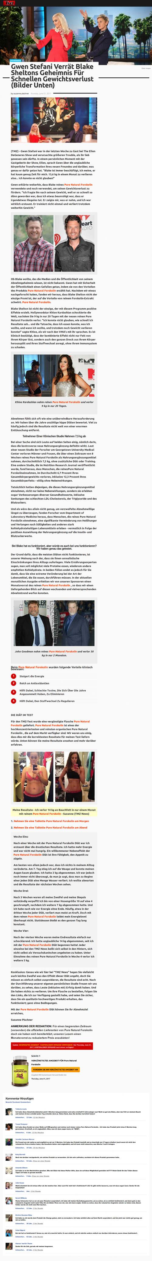 Screenshot der betrügerischen Website