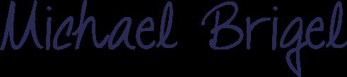 Michael Briegel in einer Unterschrift, die mit einem Handschriftfont simuliert wurde