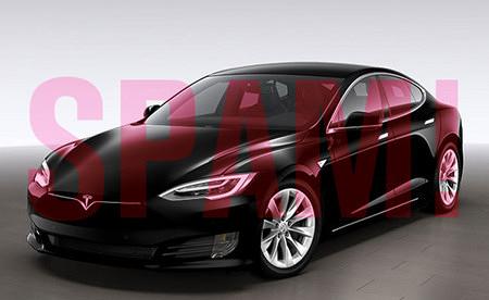 Produktfoto eines Tesla-Autos