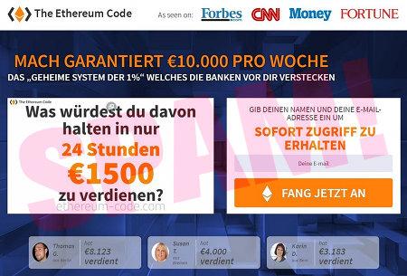 The Etereum Code -- Mach garantiert €10.000 PRO WOCHE -- DAS GEHEIME SYSTEM DER 1% WELCHES DIE BANKEN VOR DIR VERSTECKEN -- Was würdest du davon halten, in nur 24 Stunden €1500 zu verdienen? -- Gib deinen Namen und deine E-Mail-Adresse ein, um SOFORT ZUGRIFF ZU ERHALTEN [FANG JETZT AN]
