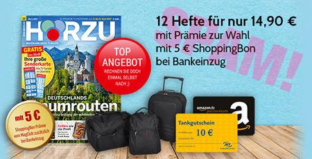 12x HÖRZU mit Prämie nach Wahl -- 12 Hefte für nur 14,90 € -- mit Prämie zur Wahl -- mit 5 € ShoppingBon bei Bankeinzug