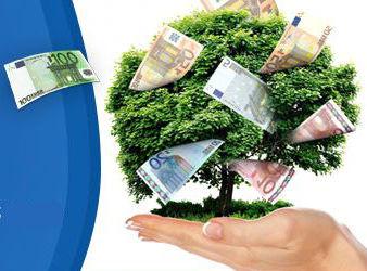 Detail aus der Grafik: Die Banknoten an dem Geldbaum sind spiegelverkehrt