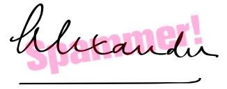 Bild einer Unterschrift