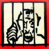Detail des (alten) Monopoly-Spielbrettes: Im Gefängnis