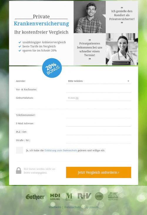 Screenshot des zweiten Schrittes mit Angabe der Anschrift, des Geburtsdatums und der Mailadresse, hinreichend für einen kriminellen Missbrauch der Identität