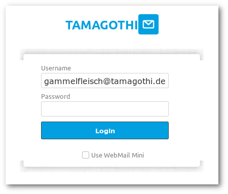 Phishing-Website für E-Mail-Konten
