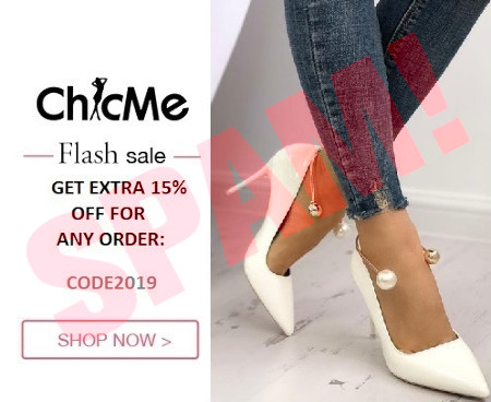 Chic Me -- Flash Sale -- GET EXTRA 15% OFF FOR ANY ORDER -- CODE 2019 -- SHOP NOW! -- Produktabbildung