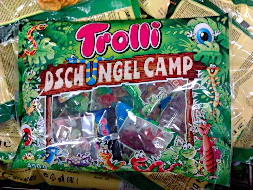 Verpackung von Süßwaren bei Aldi: Trolli Dschungelcamp