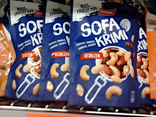 Verpackung -- Lorenz Nuss-Frucht-Mix Sofa Krimi (mit Deppen Leer Zeichen), gesalzen